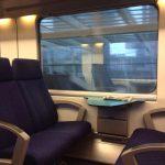 In de trein werken