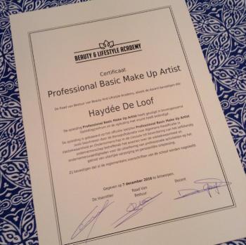 Certificaat Make Up Artist