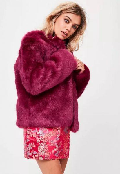 Missguided roze bontjas