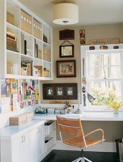 Inrichting klein bureau