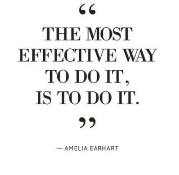 The most effective way to do it, is to do it