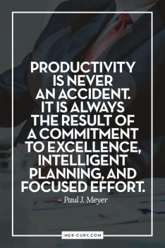 Productivity is never an accident. It is always the result of a commitment to excellence, intelligent planning, and focused effort