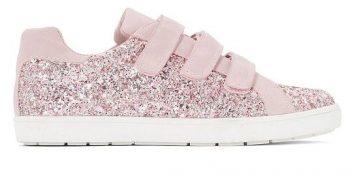 Roze sneaker met glitter