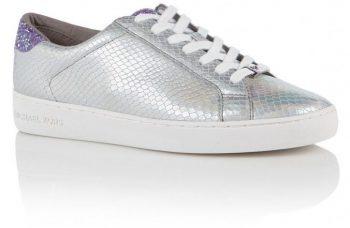 Zilveren sneaker Michael Kors