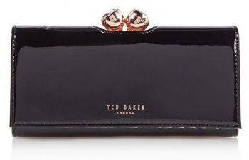 Ted Baker lakleer portemonnee zwart