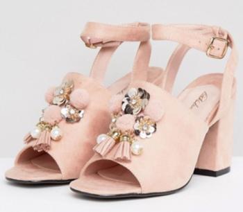 Roze sandalen met kwastjes Park Lane