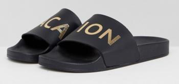 Zwarte slippers Vacation Miss KG