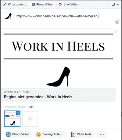 pagina niet gevonden in facebook