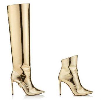 Gouden laarzen Jimmy Choo
