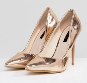 Gouden pumps Lost Ink