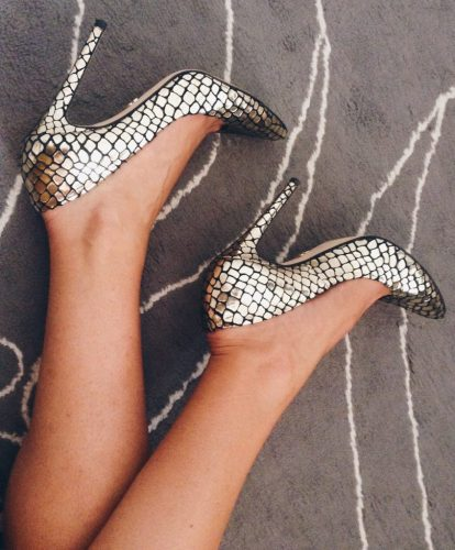 Gouden pumps SuperTrash