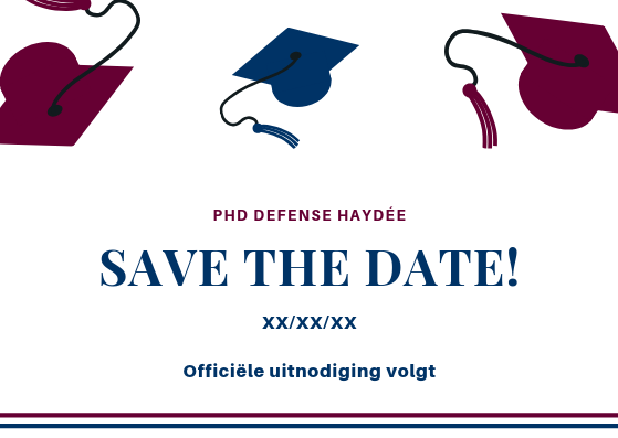 save the date doctoraatsverdediging