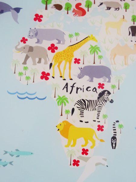 wereldkaart afrika