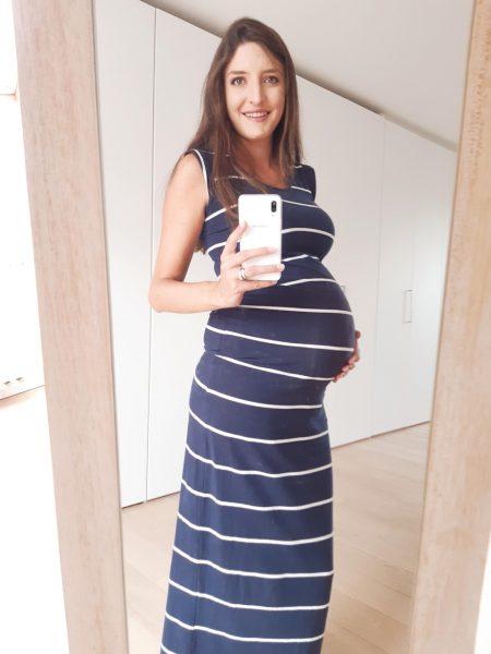 Lange zwangerschapsjurk