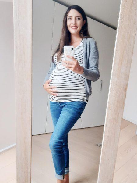 Zwangerschapsjeans en topje