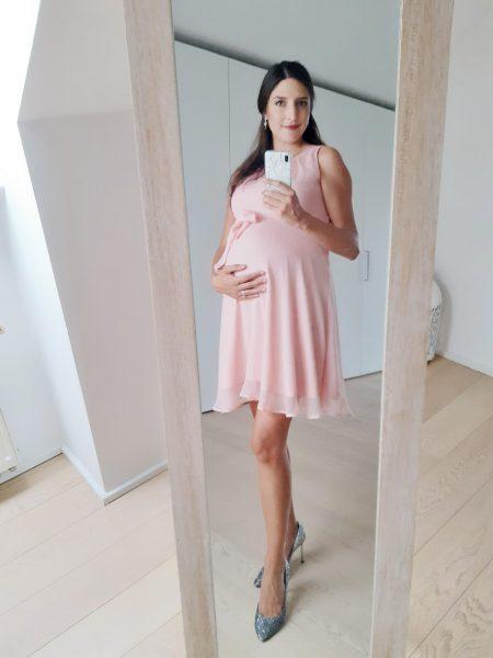 Zwangerschapsjurk trouwfeest