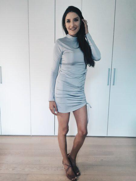 Zilveren jurkje Femme Luxe